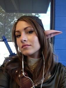 Genderbent Twilight Princess Link - hair, makeup, ears