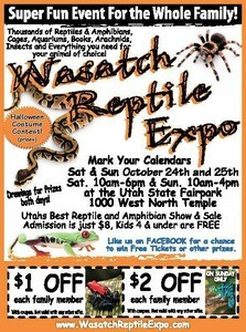 Wasatch Reptile Expo flyer