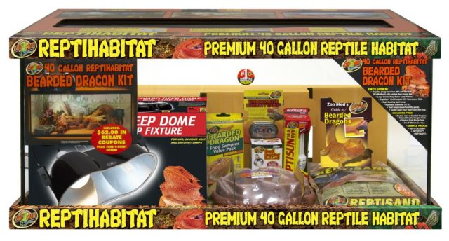 Zoo Med bearded dragon reptile kit