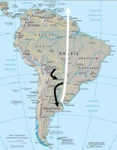 Colombian and Argentine Tegu Native Range