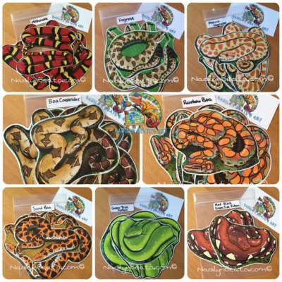 reptile stickers - reptile gifts for Christmas