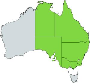 bearded dragon natural distribution map australia