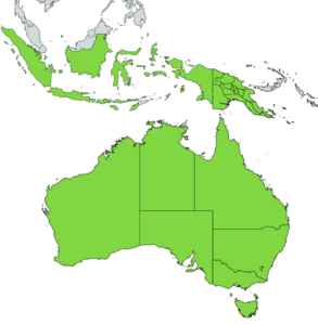 blue tongue skink distribution map