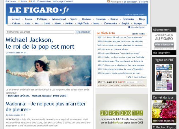 {B}Addio Jacko, la notizia fa il giro sui siti del mondo{/B}