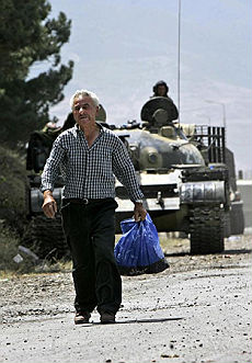 """""""I georgiani sparano sui bambini"""" tra i filo russi in fuga dall'Ossezia"""
