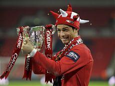 Ronaldo festeggia la vittoria in Carling Cup (repubblica.it)