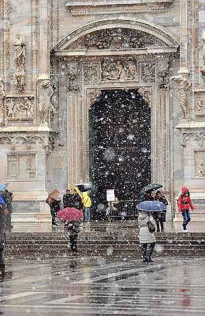 Neve e gelo in tutta Italia e tornano pioggia e temporali