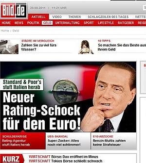 S&P e l'Italia, i media tedeschi tagliano il rating di Berlusconi