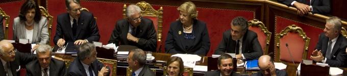 """Senato , 281 sì al governo Monti. No della Lega      """"Non è l'esecutivo    dei poteri forti""""       video"""
