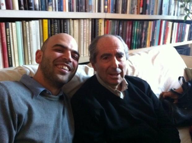 Roberto Saviano e Philip Roth, la foto su Twitter