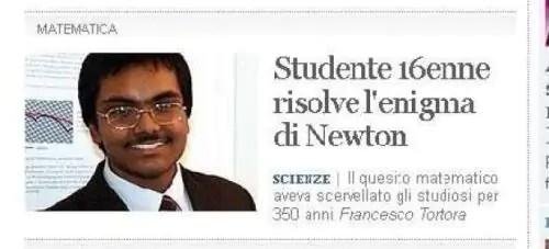 Un joven de 16 años resuelve un problema que Newton planteó hace más de 300 años