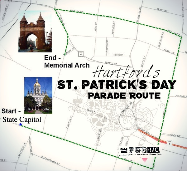 Hartford St Patrick's Day Parade Route Map