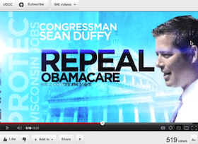 Rep. Duffy Decried Special Interest Ads One Month Ago; Will He Tell Lobbyists To Stop Airing Pro-Duffy Ads?