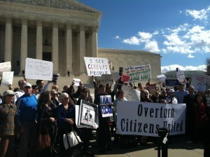 Rally Asks U.S. Supreme Court to Reconsider Citizens United Decision