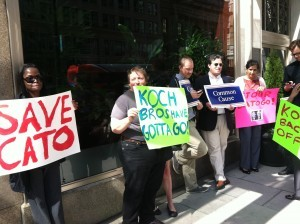 VIDEO: Occupiers Protest In <em>Support</em> Of Libertarian Think Tank Outside Of Koch's Lobbying Headquarters