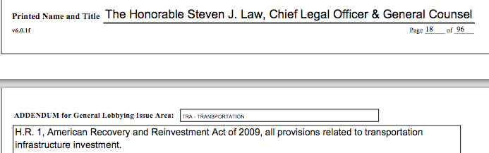 Steven Law Lobbied For The Stimulus, Now His Crossroads GPS Attacks Anyone Who Supported It