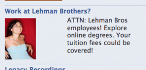 Sexy For-Profit College Ad Targets ex-Lehman Bros Employees