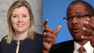Paula Gant previously worked for the American Gas Association and Christopher Smith previously worked for Chevron's liquified natural gas trading unit. Now, both work for the Department of Energy's unit overseeing LNG applications.