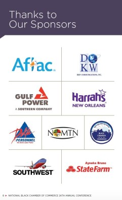 Sponsors of NBCC's 2016 annual meeting