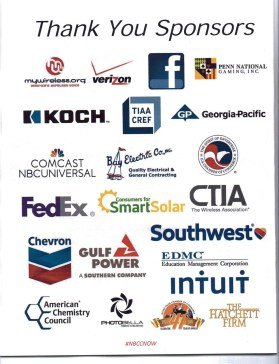 Sponsors of NBCC's 2015 annual meeting
