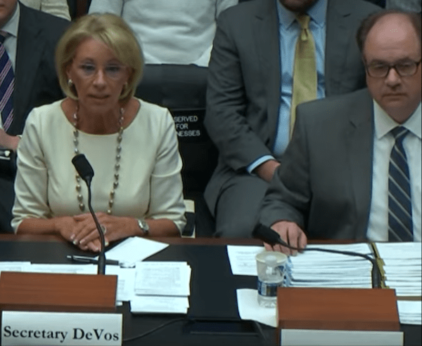 DeVos Takes A Page From Trump: Blame Obama