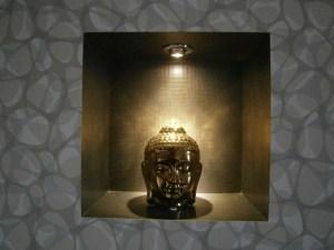 Buddha metallic bust