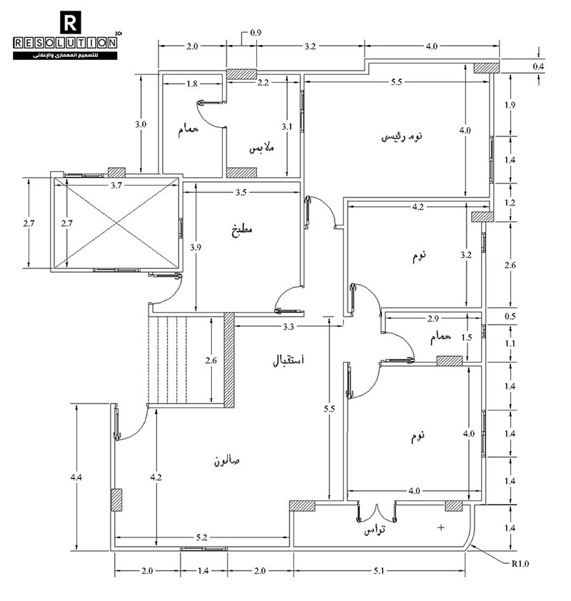 درس رسم مخطط منزل بالأوتوكاد وإظهار الأثاث بالفوتوشوب