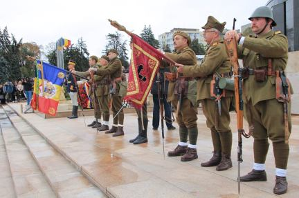 Detaşamentul Asociaţiei Tradiţia Militară în Onor Funerar (Foto: Forţele Terestre)
