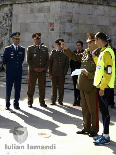 Generalul (r.) Marin Dragnea aminteşte celor prezenţi de sacrificiile ostaşilor români din al doilea război mondial, dar şi din teatrele de operaţii Irak şi Afganistan