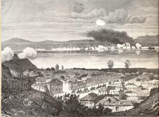 Duel de artilerie intre bateriile romane si otomane, calafat-vidin-1877