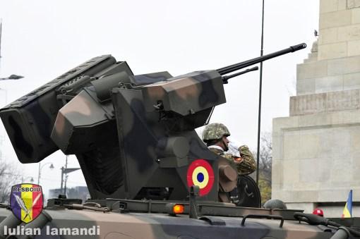 Turela cu tun Oerlikon KBA calibru 25 mm pe MLI-84M Jder