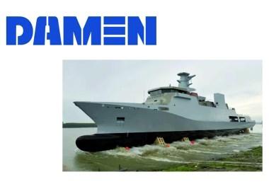 DAMEN - Lansare corveta pakistaneza