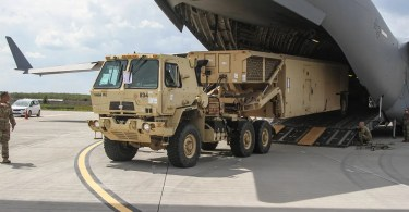 Terminal High Altitude Area Defense (THAAD) launcher