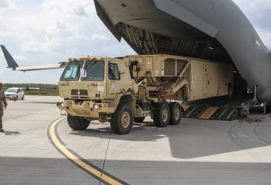 Terminal High Altitude Area Defense (THAAD) launcher