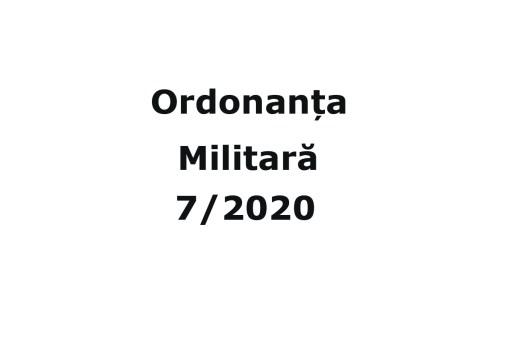 Ordonanta Militara 7 din 04.04.2020