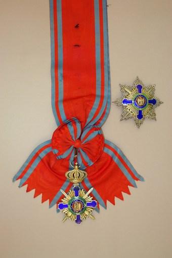 Steaua României cu spade în rang de mare cruce, model 1877. Colecția MMN