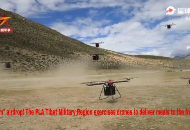 Aprovizionare cu drone in Tibet