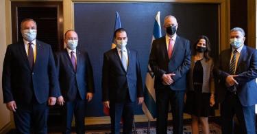 Întrevedere cu Benjamin Gantz, prim-ministru supleant și ministru al apărării în cadrul guvernului de rotație Netanyahu-Gantz al Statului Israel
