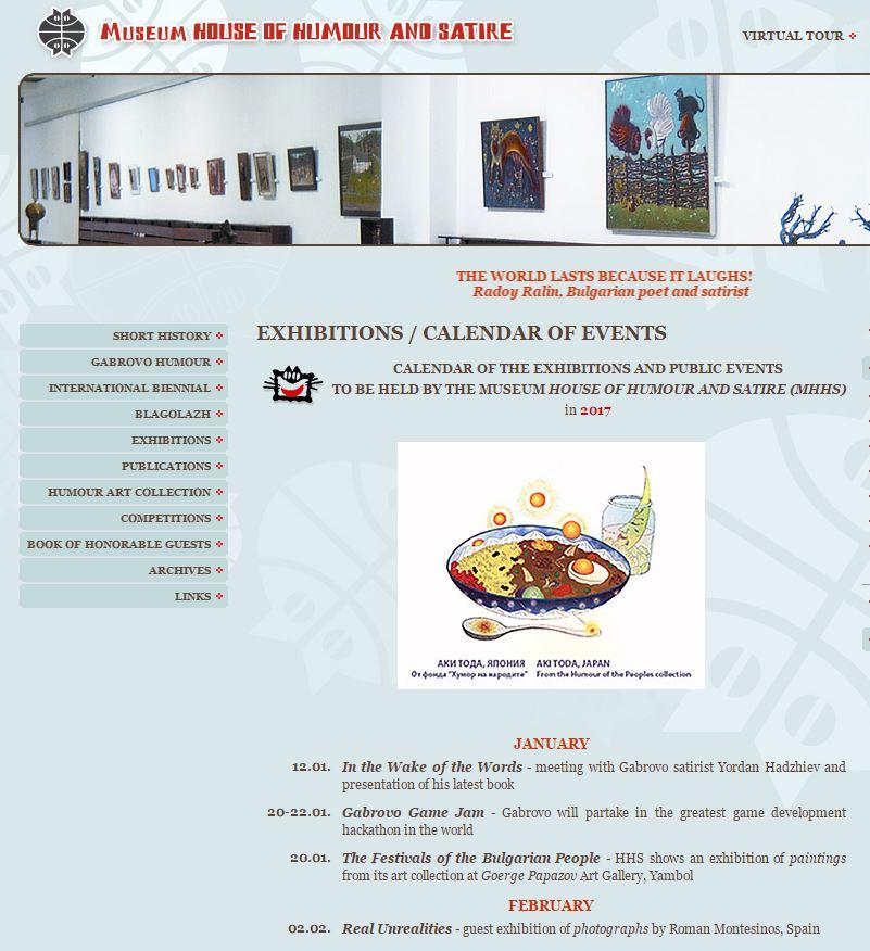 La exposición en Bulgaria en la agenda de eventos del Museum of Humor an Satire