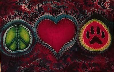 Peace Love & Pugs Tapestry