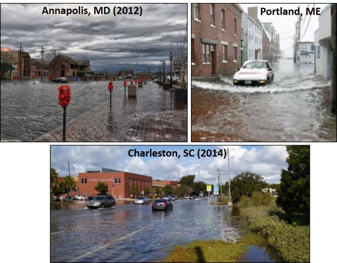 Flooding in coastal cities