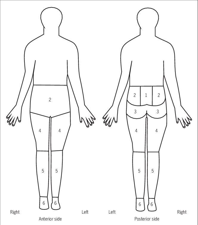 FIGURE Body pain diagram   Download Scientific Diagram