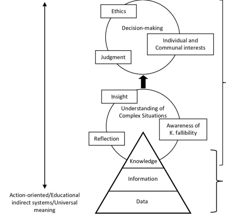 Image of a model for integrating wisdom into business education programs