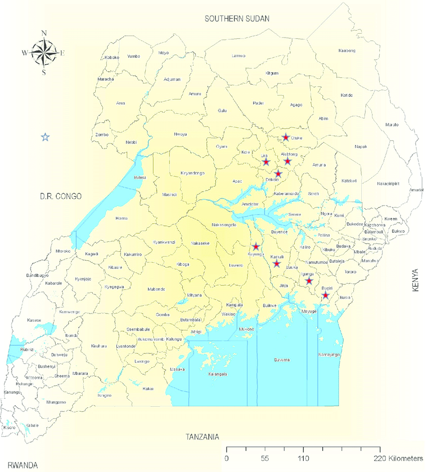 uganda map with all districts      Full HD MAPS Locations   Another     Download Free Uganda Maps Map of Uganda Including New Districts by Region  as of Jul Map of Uganda Including New Districts by Region as of Jul Uganda