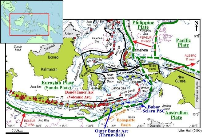 Geography Of East Indonesia And Surrounding Regions After Hall 2009 Download Scientific Diagram