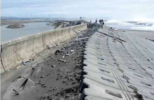 Coastal dike failure in Isobe, Japan, due to the 2011 ...