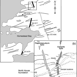 Fig 2 a map of dyke locations in the c site and homestead