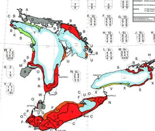 Ce Analysis Chart Product Of The Eastern Great Lakes Lake Ontario Lake