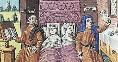 Image result for medieval manuscript hippocrates