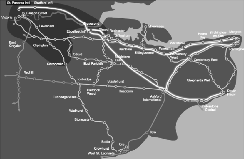 High Speed 1 route map  source  www lcrhq co uk   Download     High Speed 1 route map  source  www lcrhq co uk